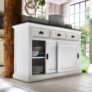 B130CT | Halifax Contrast Buffet w/ sliding doors