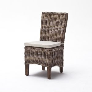 CR14 | Wickerworks Morin Dining Chair w/ cushion  (Set of 2)