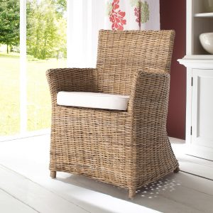 CR27   Wickerworks Bishop Dining Chair w/ cushion  (Set of 2)