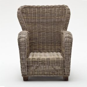 CR42 | Wickerworks Queen Chair w/ seat & back cushions