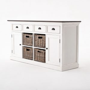 B189TWD | Halifax Accent Buffet with 4 Basket Set