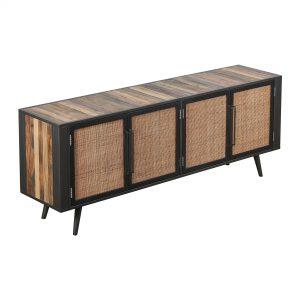 BW RT 18050 | Nordic Rattan TV Dresser 4 Doors