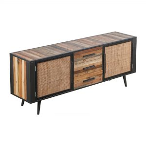 BW RT 19051 | Nordic Rattan Buffet 2 Doors 3 Drawers