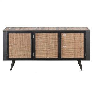 BW RT 19052 | Nordic Rattan TV Dresser 3 Doors