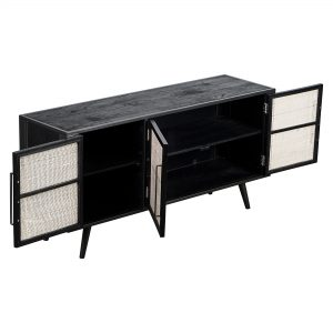 MD RT 19052 | Nordic Mindi Rattan TV Dresser 3 Doors