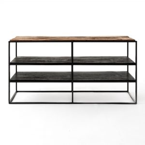 CPP18002 | Rustika TV Stand Open Shelving 112cm