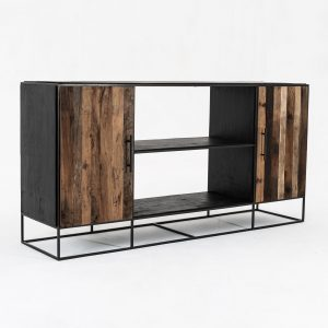 CPP19006 | Rustika Sideboard 2 Doors Open Shelving