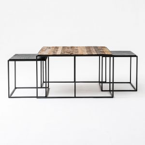 CPP28004 | Rustika Nesting Coffee Table Set 80cm